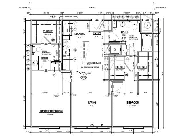 De Kooning 2 Bedroom Layout Plan - Denizen Denver Apartments