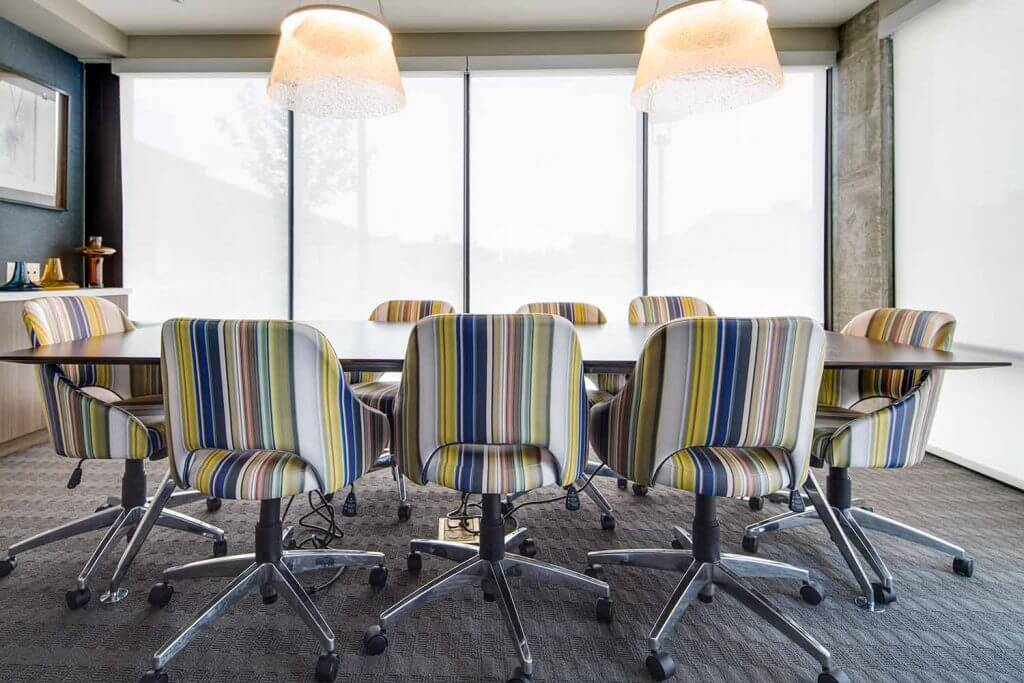 Conference and meeting table at Denizen Denver Apartments