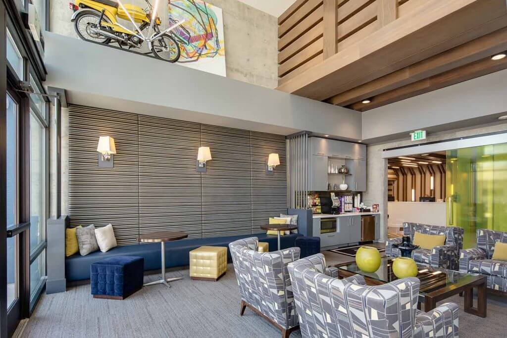 Community Lounge at Denizen Denver Apartments