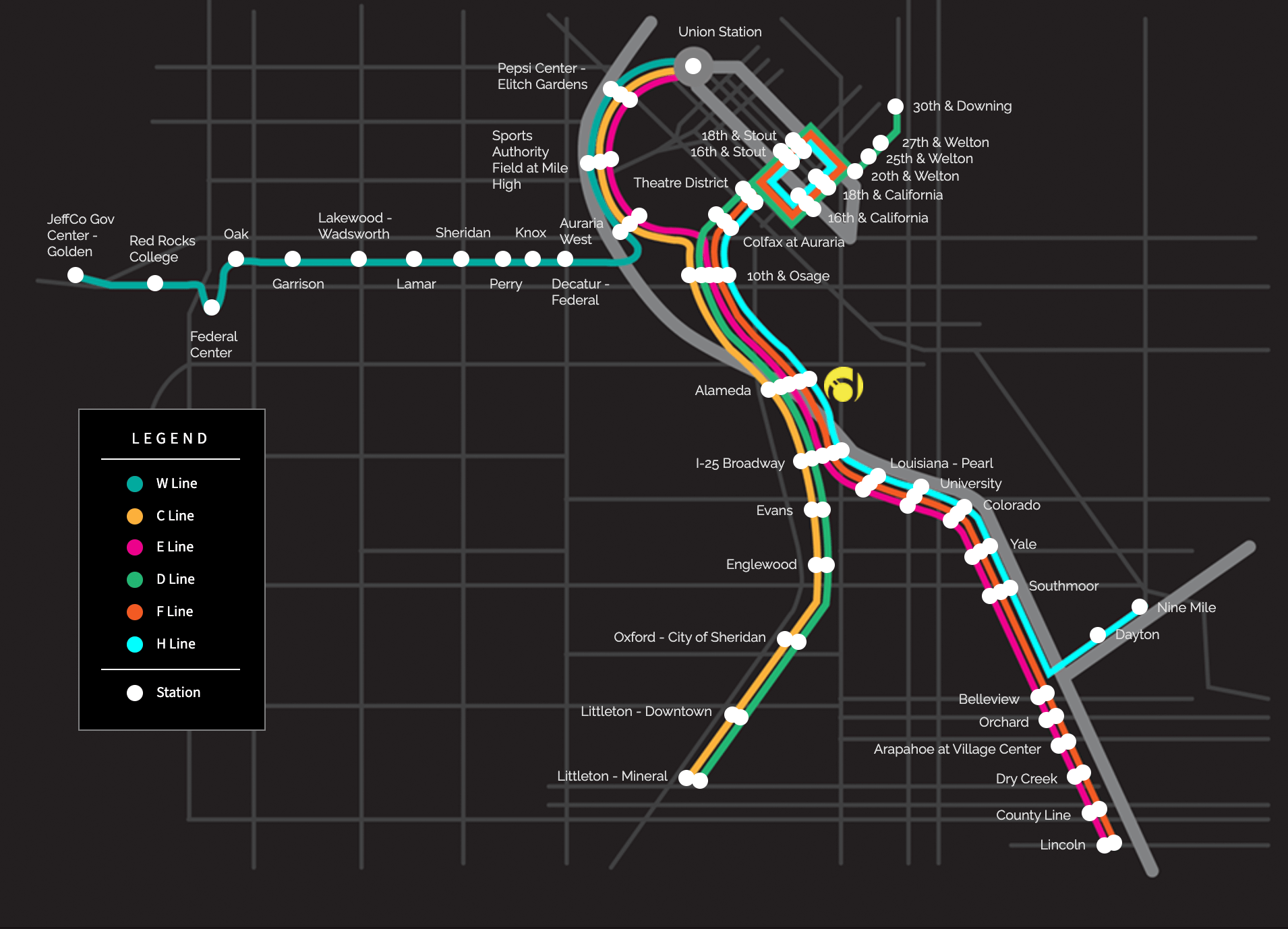 Denver Light Rail Map